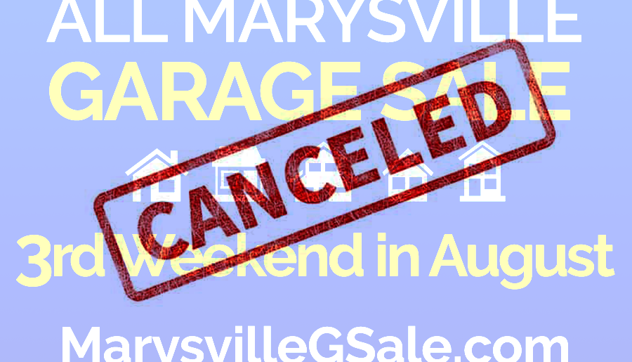 2020 All Marysville Garage Sale Canceled